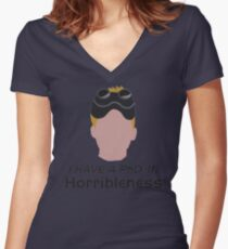 I have a PhD. in horribleness Women's Fitted V-Neck T-Shirt