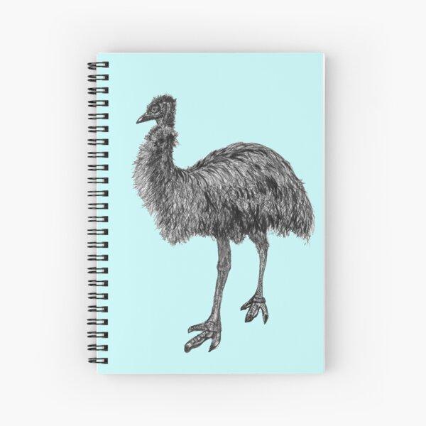 Fluffy the Emu Spiral Notebook