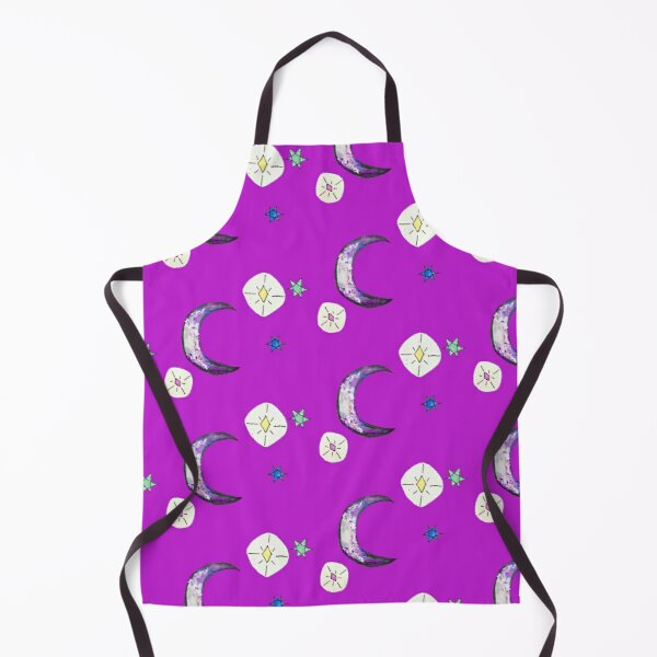 Crescent Moon in a Sky of Stars Apron