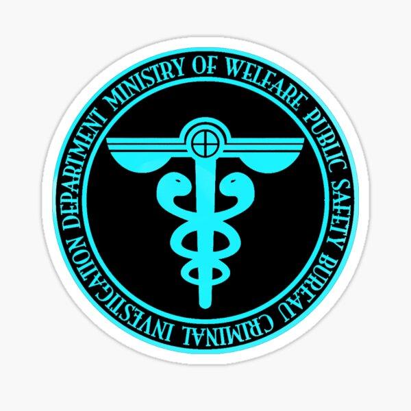 Logotipo de la oficina de seguridad pública Psycho-Pass Sibyl Pegatina