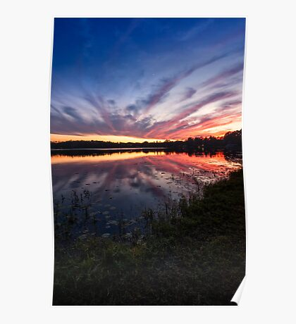 lake platt sunset 12/12/13 Poster