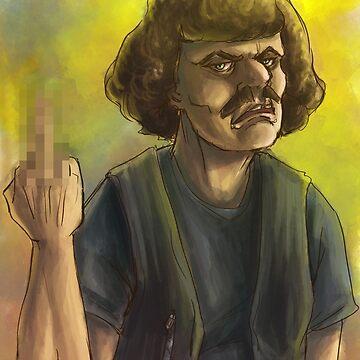 Murderface Watercolor by StarryKnightArt