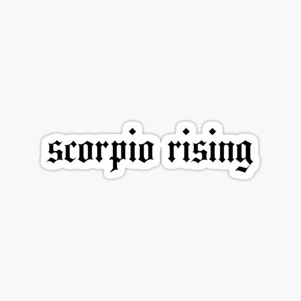 scorpio rising Sticker