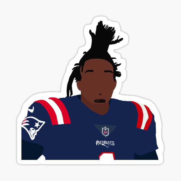 Cam Newton Patriots Sticker