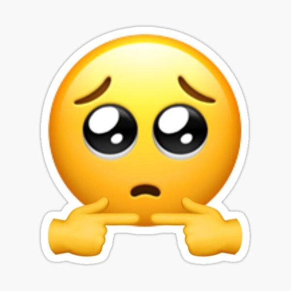 Dedos tímidos emoji triste Pegatina