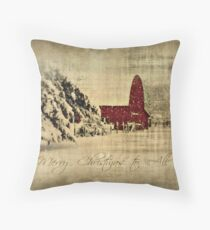 Merry Christmas and Happy Holidays to all! Throw Pillow
