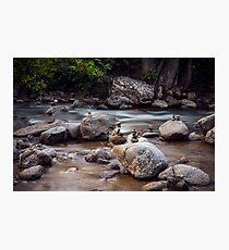 Boulder Creek Balancing Act Photographic Print