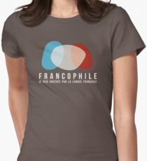 Francophile (féminin) Womens Fitted T-Shirt