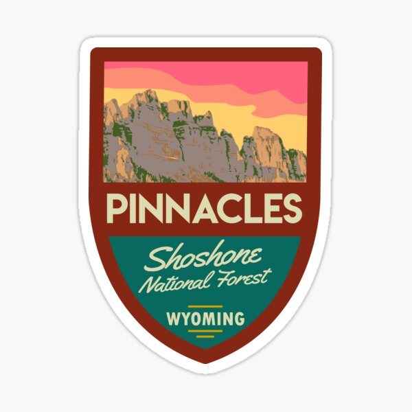 The Pinnacle Buttes, Wyoming Sticker