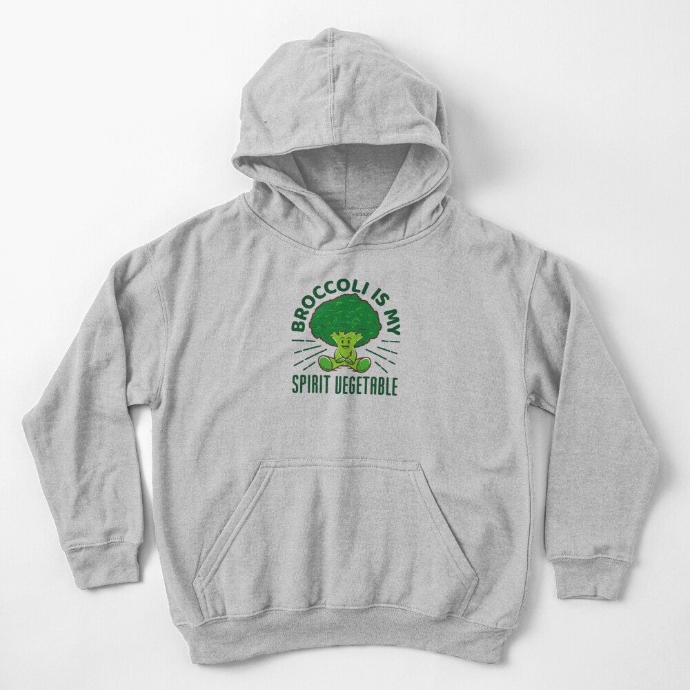 Funny Broccoli Gift - Broccoli Is My Spirit Vegetable Kids Pullover Hoodie