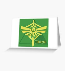 Triforce des Mutes Grußkarte