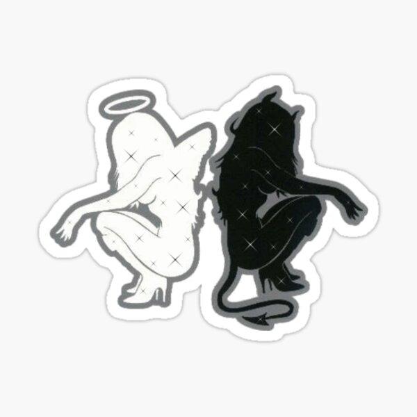 ange ou diable Sticker