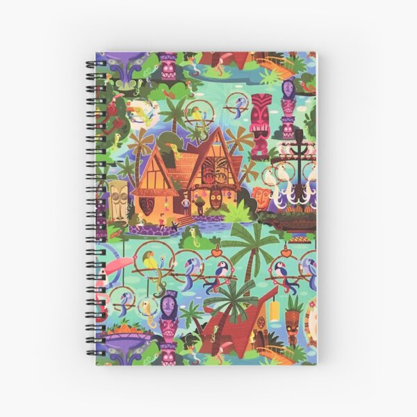 The ORIGINAL Enchanted Tiki Room Collage Spiral Notebook