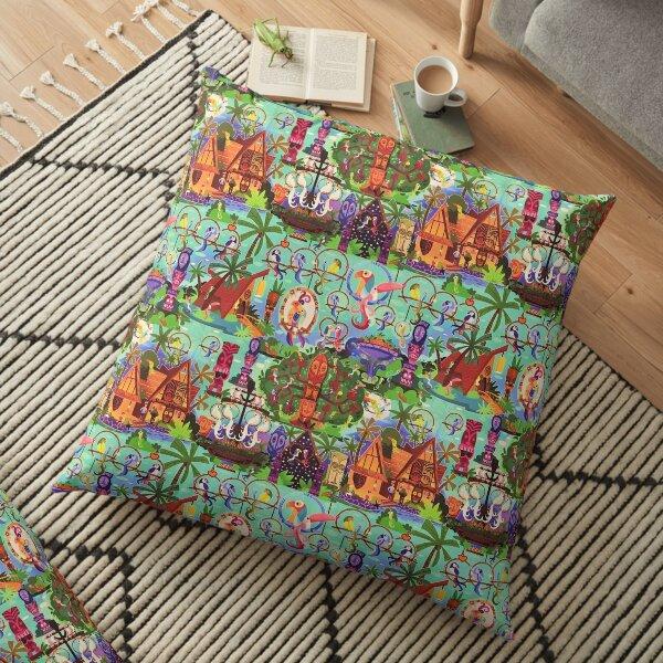 The ORIGINAL Enchanted Tiki Room Collage Floor Pillow