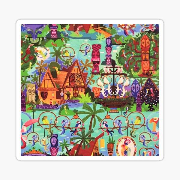 The ORIGINAL Enchanted Tiki Room Collage Sticker