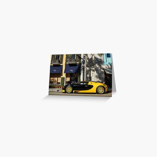 Bugatti Veyron Greeting Card
