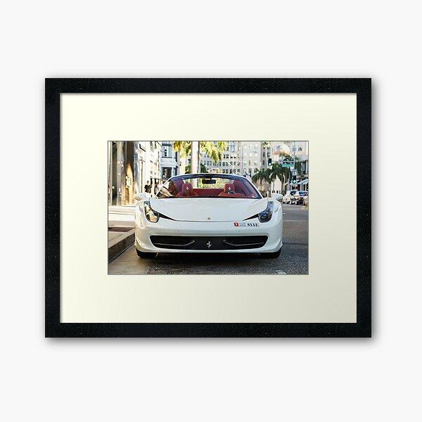 Ferrari 458 Spider Framed Art Print