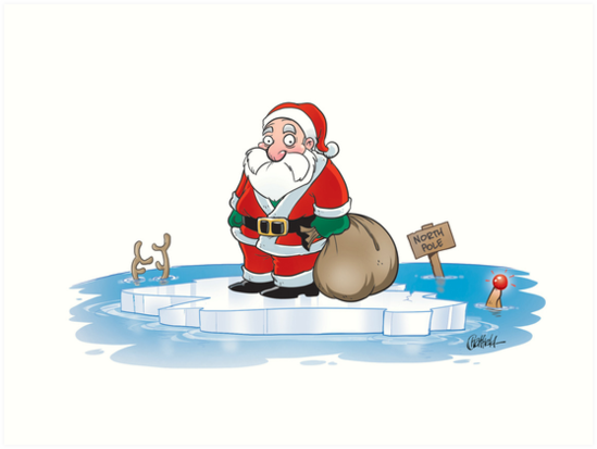 Image result for santa claus global warming