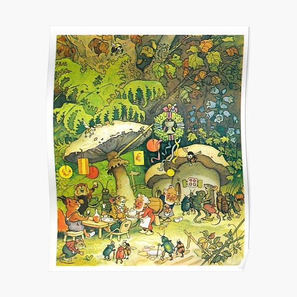 """Garden Party"" by Fritz Baumgarten  Poster"
