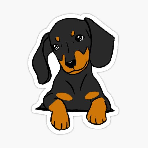 Dachshund Puppy in Your Pocket Grey Sticker