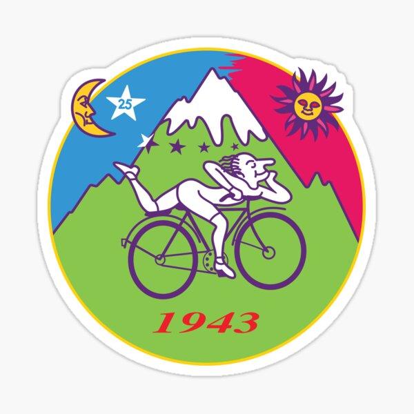 Albert Hofmann Bicycle Day LSD 1943 Circle Sticker
