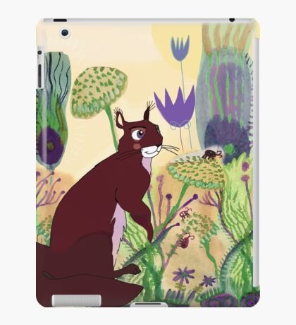 squirrel and plants iPad Case/Skin