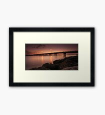 Bribie Bridge Framed Print