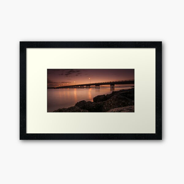 Bribie Bridge Framed Art Print
