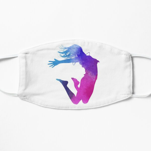 woman multicolored illustration, Dance Watercolor painting Illustration, Color ink silhouette jumping  Flat Mask