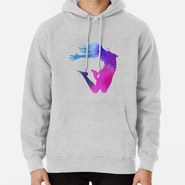 woman multicolored illustration, Dance Watercolor painting Illustration, Color ink silhouette jumping  Pullover Hoodie