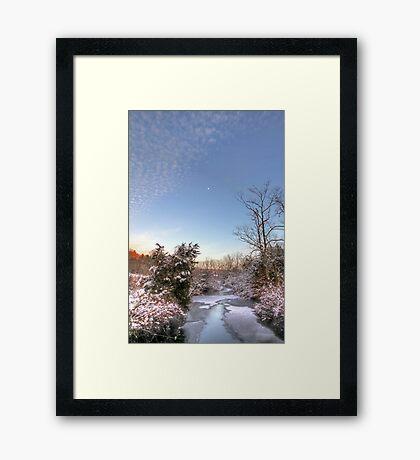 Deep Creek In Deep Sleep Framed Print