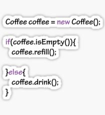 Coffee - code Sticker