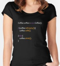 Coffee - code Women's Fitted Scoop T-Shirt