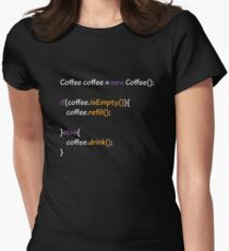 Coffee - code Women's Fitted T-Shirt