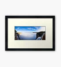 Rare Grand Canyon covered with fog, panoramic Framed Print