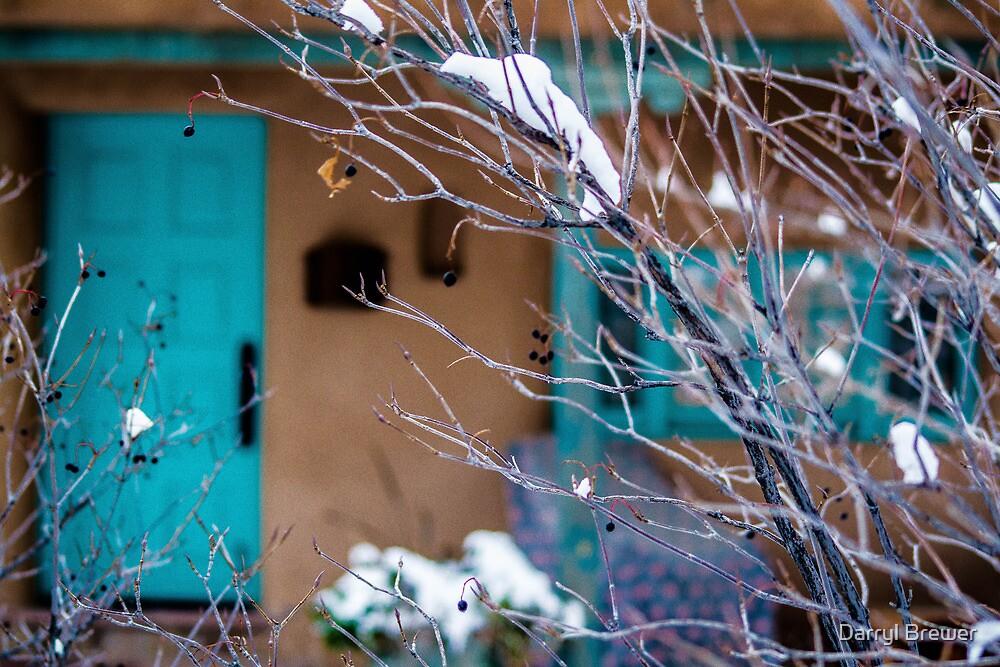 Blue Trim Background by Darryl Brewer