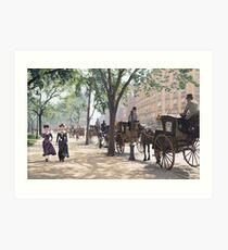 Cab Stand at Madison Square Garden, 1900 Art Print