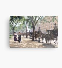 Cab Stand at Madison Square Garden, 1900 Metal Print