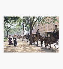 Cab Stand at Madison Square Garden, 1900 Photographic Print