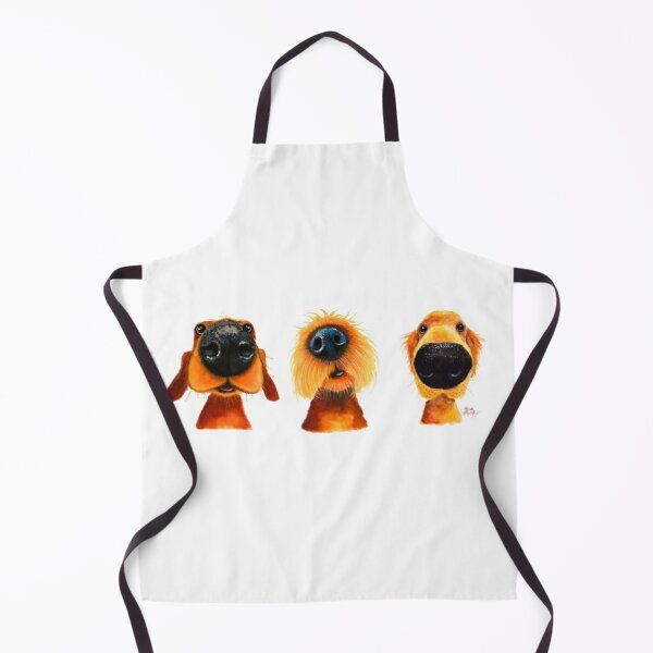 NoSeY DoG PRiNT ' THe PuPPY DoGS ' By Shirley MacArthur Apron