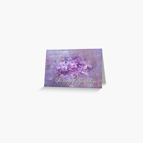 Sympathy Greeting Card - Lilacs Greeting Card
