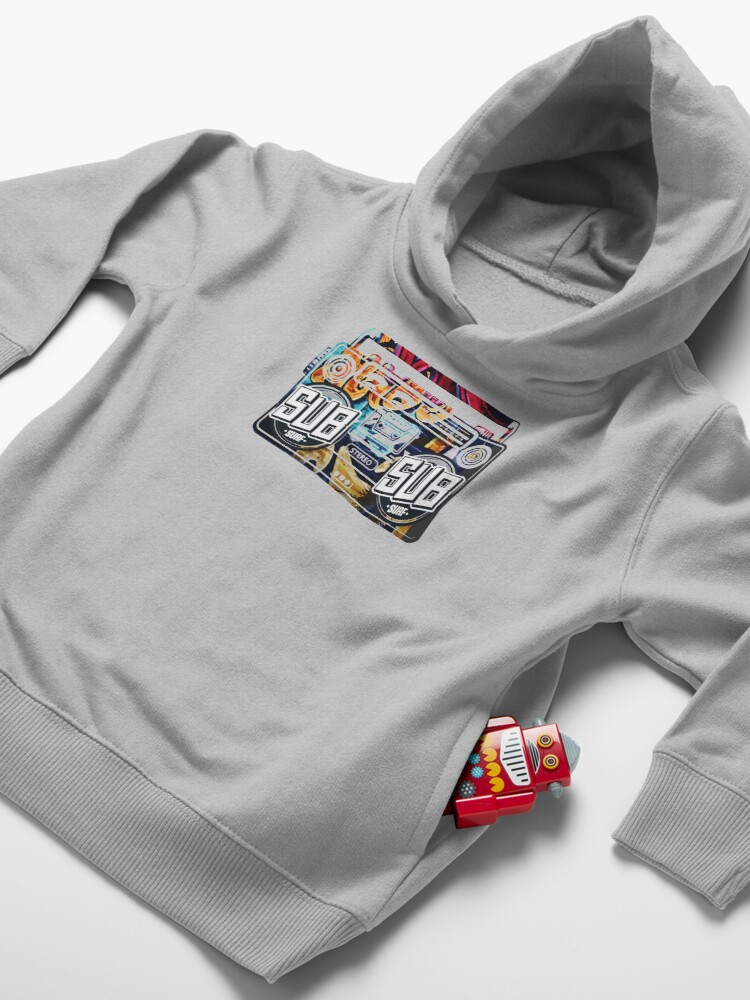 Alternate view of Subway Surfers tape recorder Toddler Pullover Hoodie