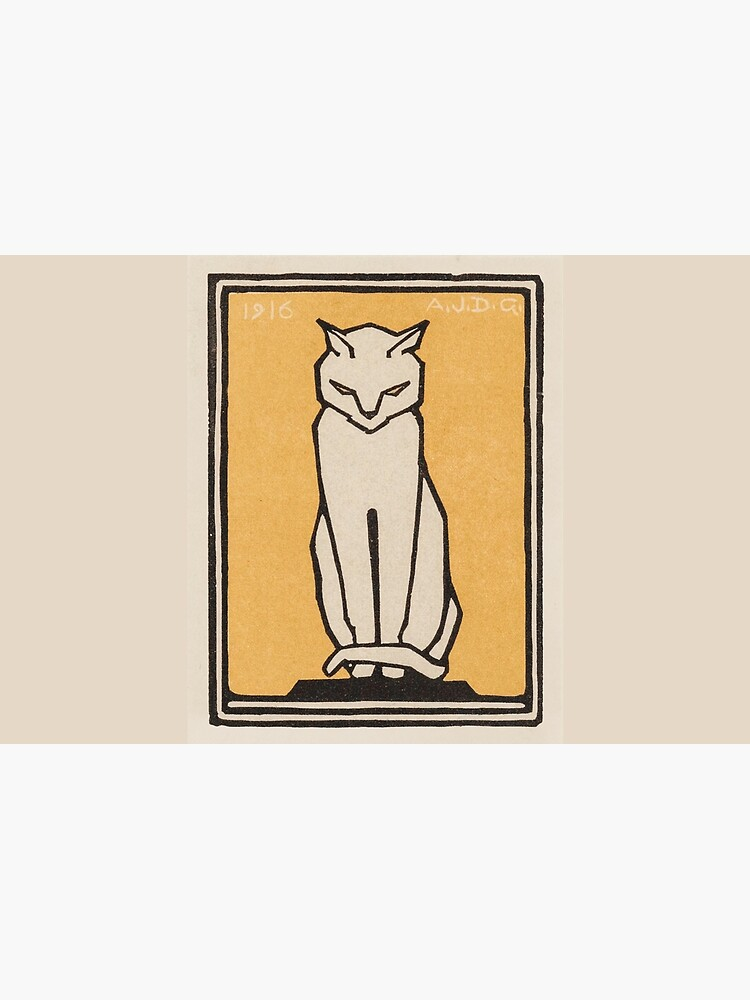 Sitting cat (1916) by webcaff-design