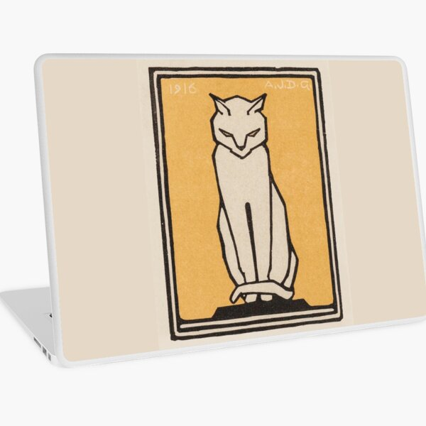 Sitting cat (1916) Laptop Skin