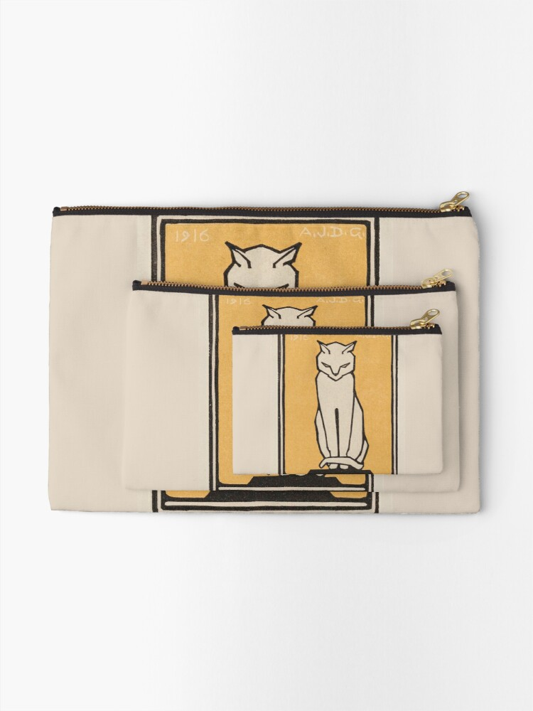 Alternate view of Sitting cat (1916) Zipper Pouch
