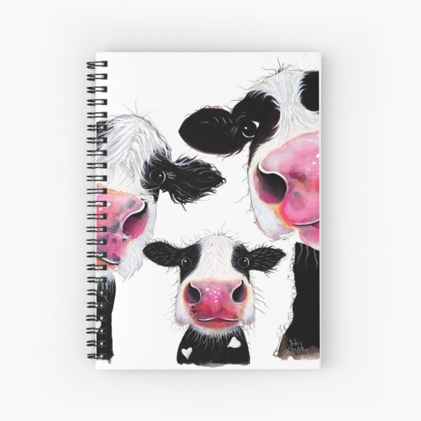 CoW PRiNT, ANiMaL PRiNT ' THe NoSeY FaMiLY ' BY SHiRLeY MacARTHuR Spiral Notebook
