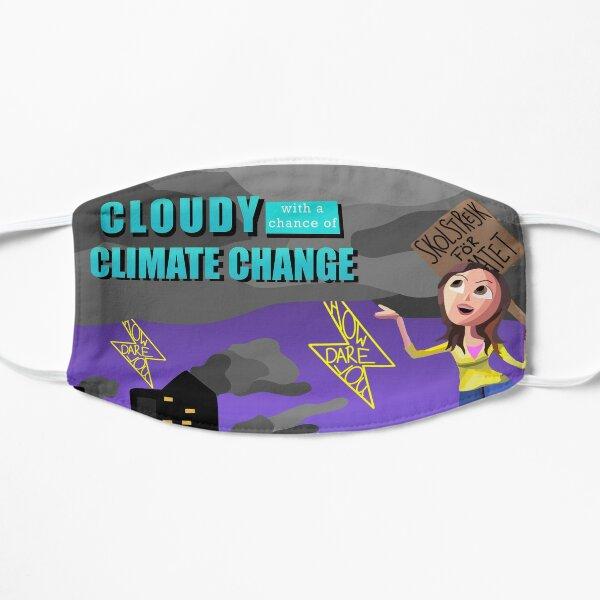 Klimawandel-Cartoon-Landschaft Flache Maske