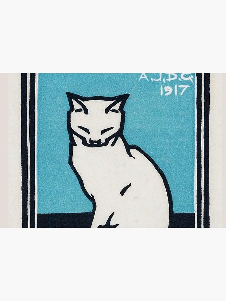 Sitting cat (1917) by Julie de Graag (1877-1924) by webcaff-design