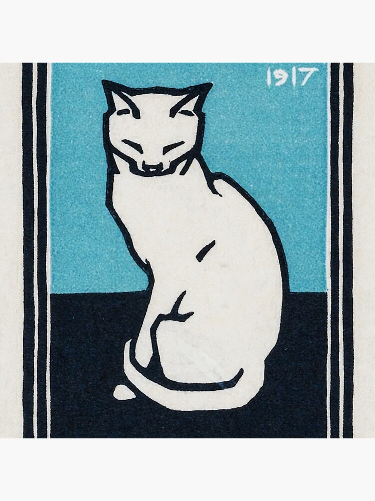Sitting cat (1917) by Julie de Graag (1877-1924) by webcaff-design