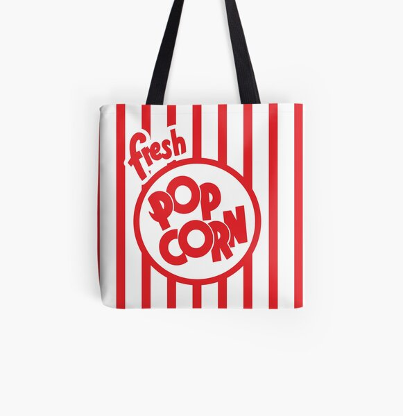 Fresh Popcorn All Over Print Tote Bag